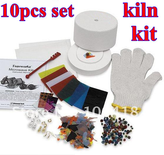 10 Items In 1 Set Microwave Small Kiln Kit For Fusing Gl 2018 Whole