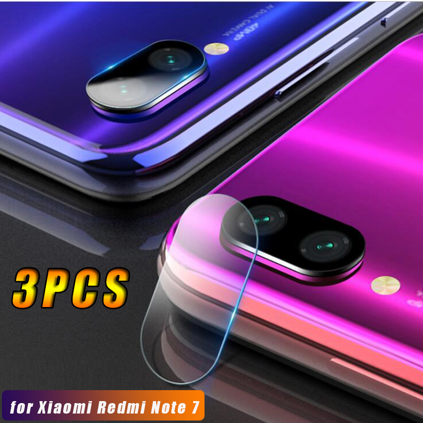 3PCS Screen <font><b>Protector</b></font> for Xiaomi <font><b>Redmi</b></font> <font><b>Note</b></font> <font><b>7</b></font> Camera <font><b>Lens</b></font> Clear Tempered Glass Clear Film Protection Cover Back <font><b>Lens</b></font> image
