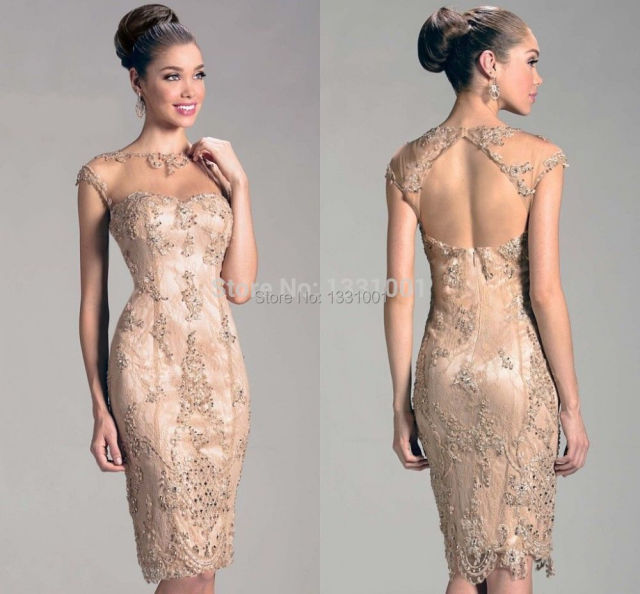 2015 Champagne Mother Of The Bride Dresses Elegant Mother Bride ...