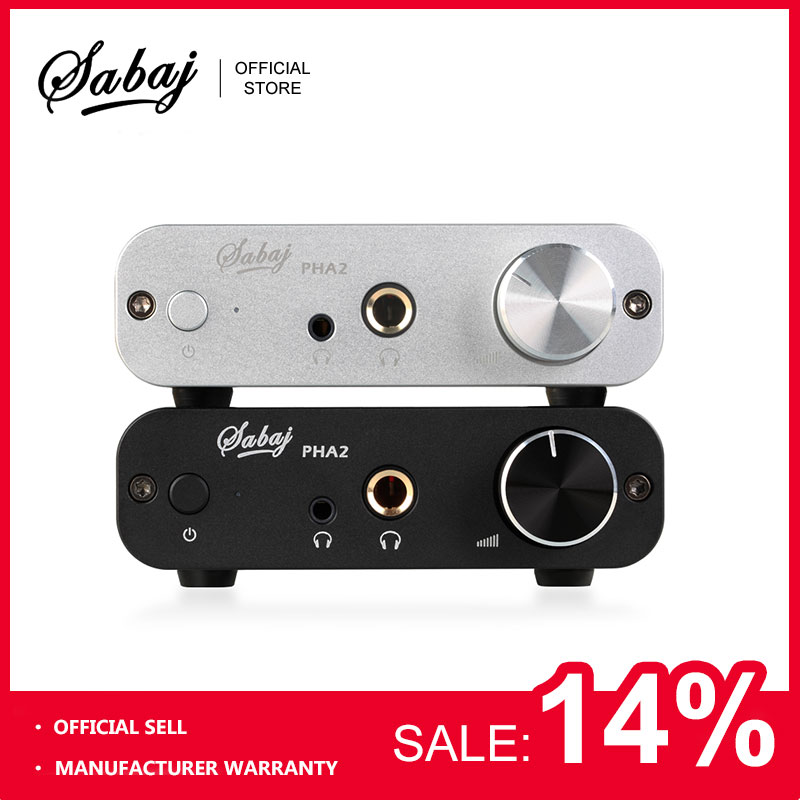 Sabaj Audio RCA Amplificador de Auriculares PHA2 Portátil Mini Amplificado de Alta Fidelidad Auriculares Auriculares Auriculares AMP DAC