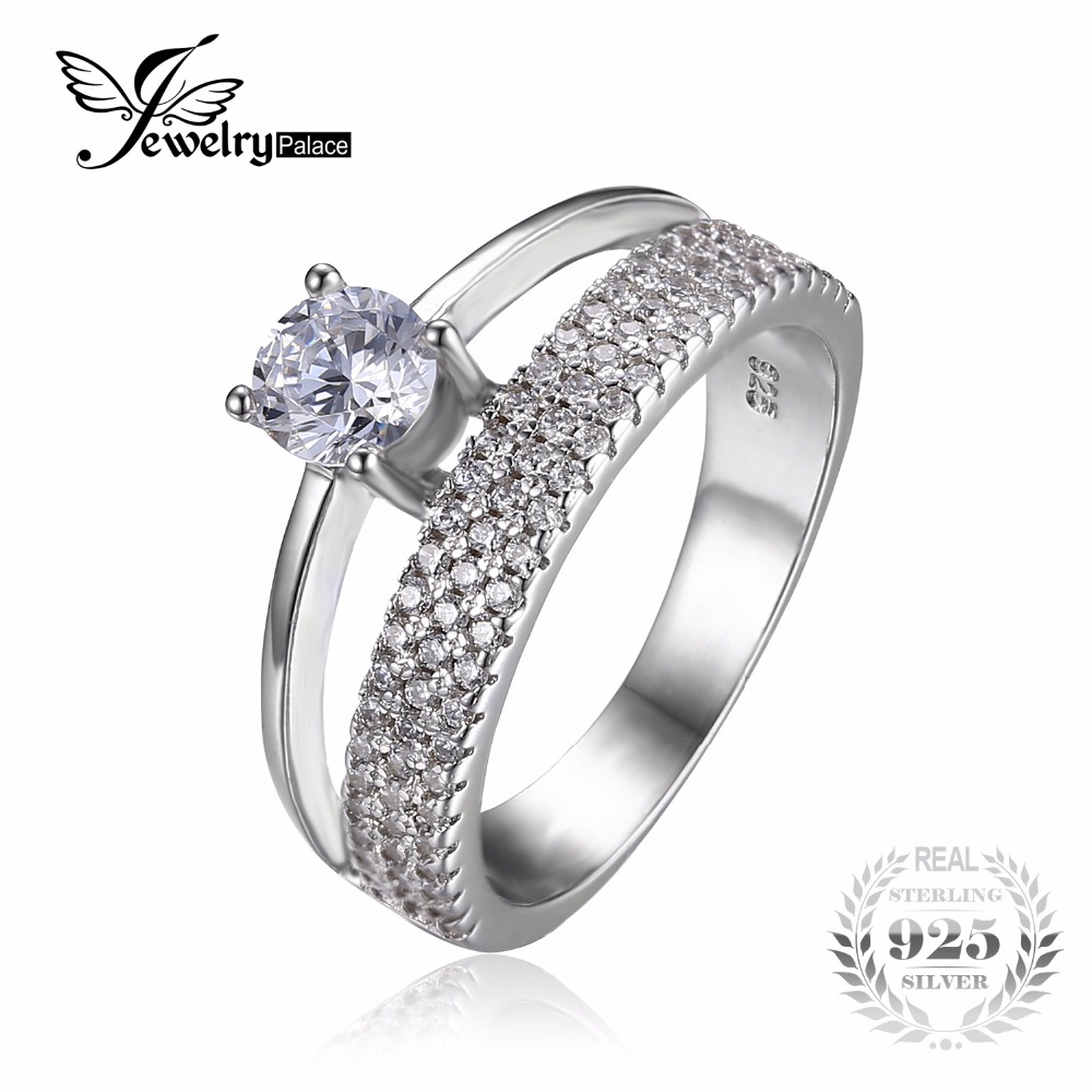 white gold diamond enhancer rings wedding band enhancers Diamond Enhancer Ring 15 ct tw Round Cut 14K White Gold