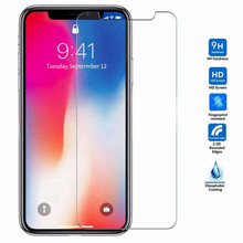 10pcs/lot 9H protective glass for iphone XS MAX XR XS X 5s 5 se tempered glass on iphone X 10 6s 7 8 plus screen protector