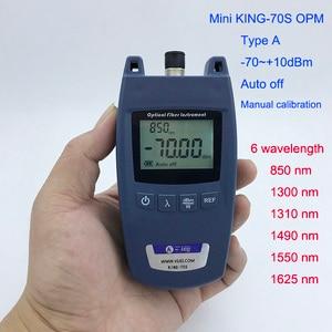 Image 1 - FTTH миниатюрный оптический измеритель мощности, модель A, прибор для проверки оптоволоконных кабелей OPM 70 дБм ~ + 10 дБм, универсальный интерфейсный разъем SC/FC