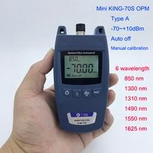 Medidor de potência óptica ftth mini, testador de cabo óptico de fibra óptica tipo a, 70dbm ~ + 10dbm sc/conector universal de interface fc,