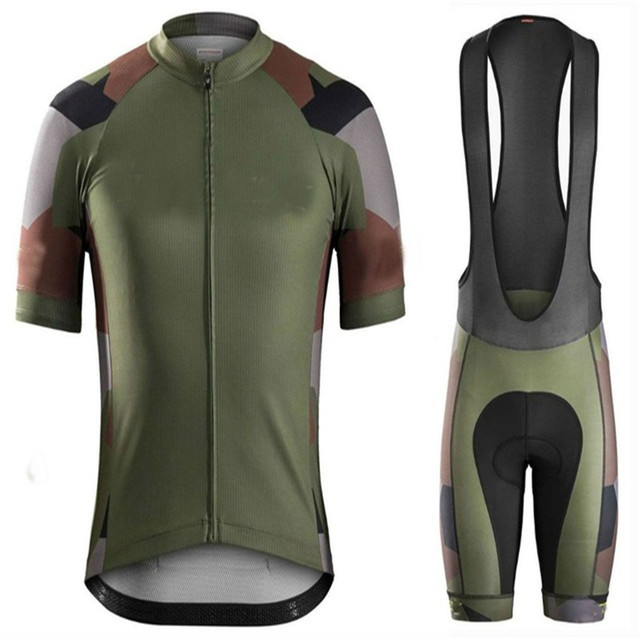 5196368d6 2018 Army team New pro camo wonder cycling Jersey ciclismo maillot culotte  with 19D gel pad