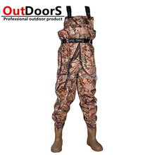 Brand Quality  Insulated Waders waterproof  Nylon fishing wading pants  hunting Wader boot  Fly fishing camouflage wader