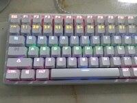 Keycool 84 многоцветный компактный мини подсветка механическая клавиатура kailh MX Brown коммутаторов игры клавиатуры ansi 84 Ключи
