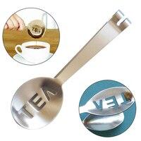 Aço inoxidável reutilizável saco de chá pinças teabag squeezer filtro titular aperto colher de metal mini clipe de açúcar chá folha filtro Prendedor de chá     -