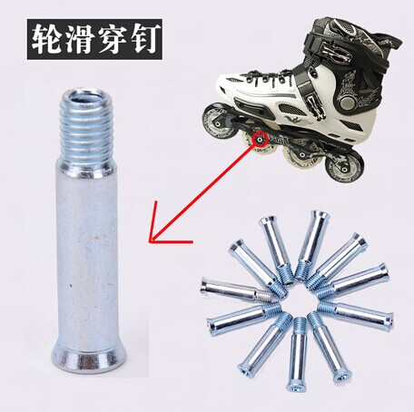 10PCS Roller Skates Wearing Nail Nailing Inline Skates Knife Screw-meter Skate Wheels Wear Nail Accessories
