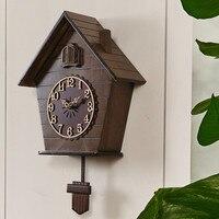 Личности часы деревянные настенные часы салон Творческий кукушка настенные часы птицы Смарт часы Спальня Детская комната и Гостиная