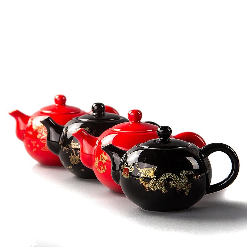 Қытай шайнек фарфоры Қызыл үйлену шай - Тағамдар, тамақтану және бар - фото 2