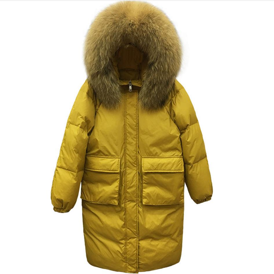 Winter Thick Hooded Coat Down Jacket Down   Parka   Fur Collar loose cotton-padded jacket Plus Size