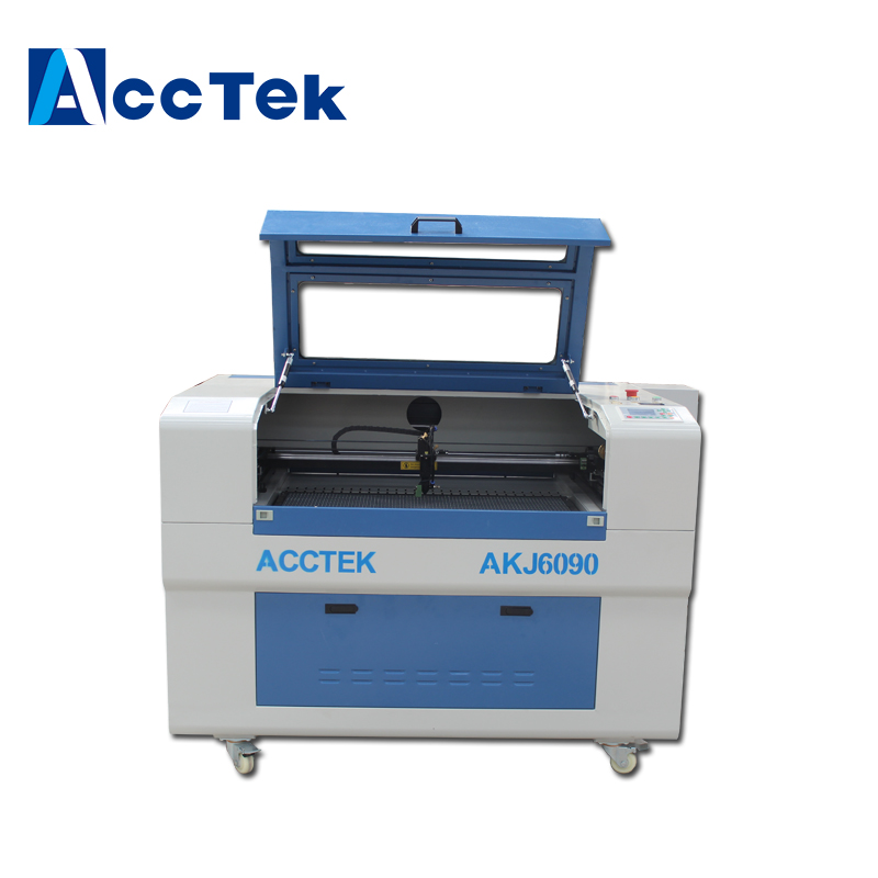 Acctek 6090 CO2 cnc laser cutting plotter /leather co2 laser engraving machinery acctek china 6090 co2 die board laser cutting machine co2 laser wood cutter for sale