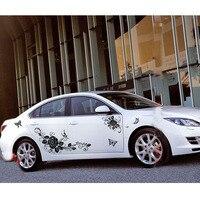 Beauty Bloemen en Vlinder Auto Hele Lichaam Decoratie Stickers Waterdicht Automobiles SUV Exterieur Accessoires