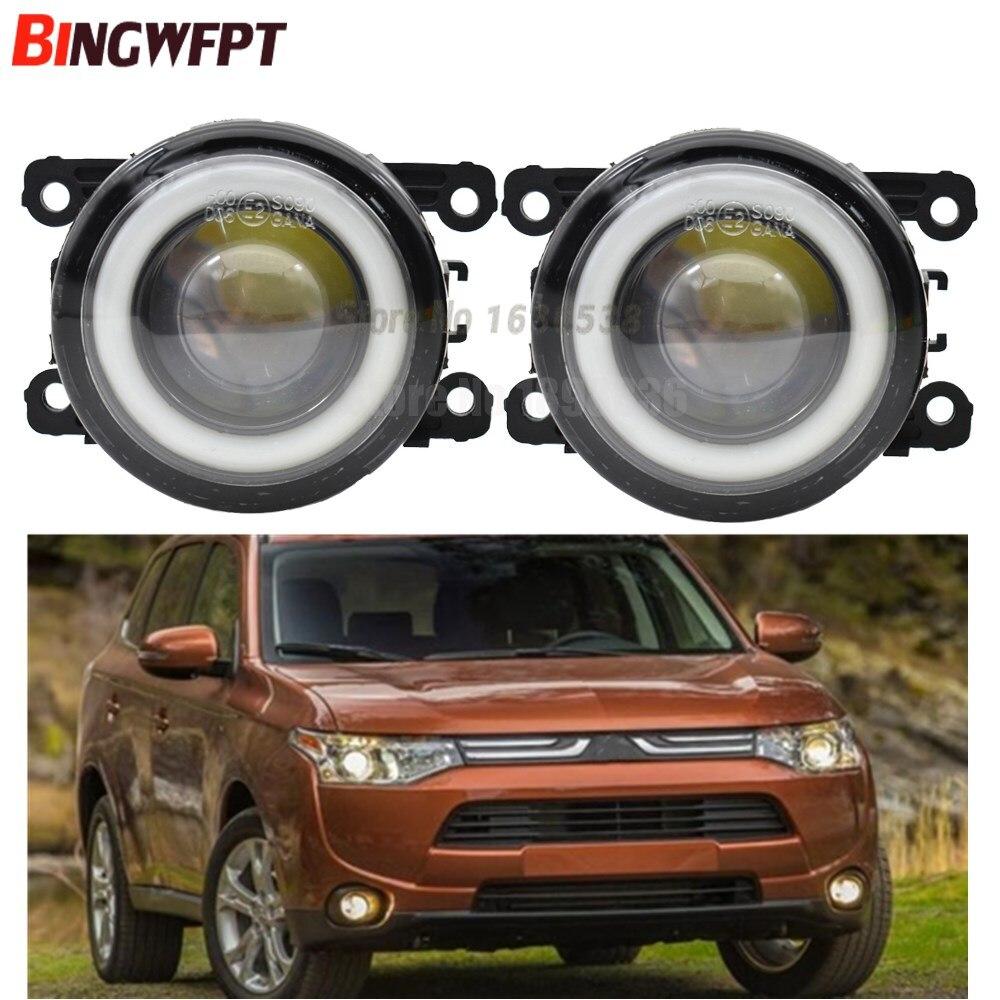 2x voiture accessoires LED ampoule avant antibrouillard ange Eye H11 12V pour Mitsubishi Outlander 2006-2015 pour Mitsubishi ASX 2013 2014