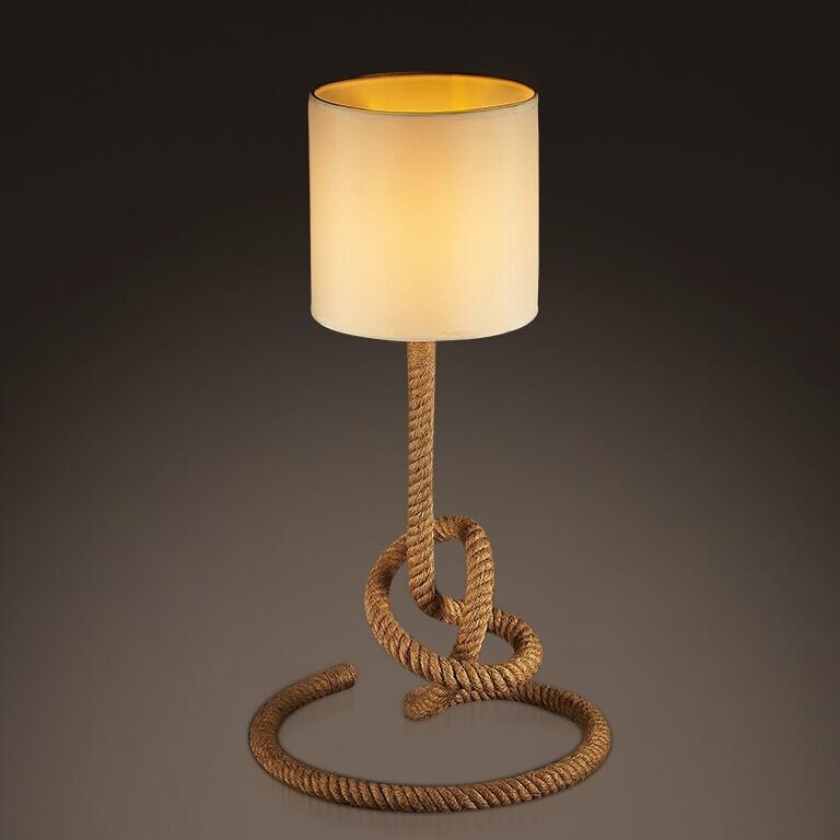 Ночники Американский Ретро Лофт творческая личность лампы Мода американский кантри конопли art гостиная GY217