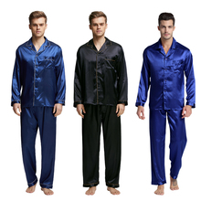 Men's Sexy Silk Pajamas 2 pcs Set