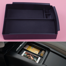 DWCX Car Interior Center Console Armrest Storage Box Tray Holder Case Organizer Container fit for Tesla Model X S 2017 2018