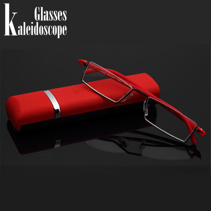 Kaleidoscope <font><b>Glasses</b></font> Reading <font><b>Glasses</b></font> TR90 Ultralight Old Man High-definition With Box Portable Half Frame Presbyopia Eyewear image