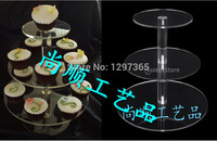 Free shipping Elegant Style Fine acrylic 3 Tier Cake Stand of transparent in China