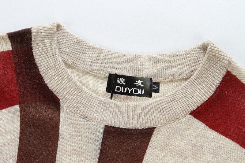 Одежда высшего качества Для мужчин сращивания принт пуловер, Рождественский свитер в британском стиле ретро Для мужчин s бренд Повседневно... - 5