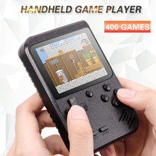 Retro Portable Mini Handheld Game Console 8-Bit 2.8 in Color LCD Screen Built-in 400 Games Kid Video Handheld Game Player on TV