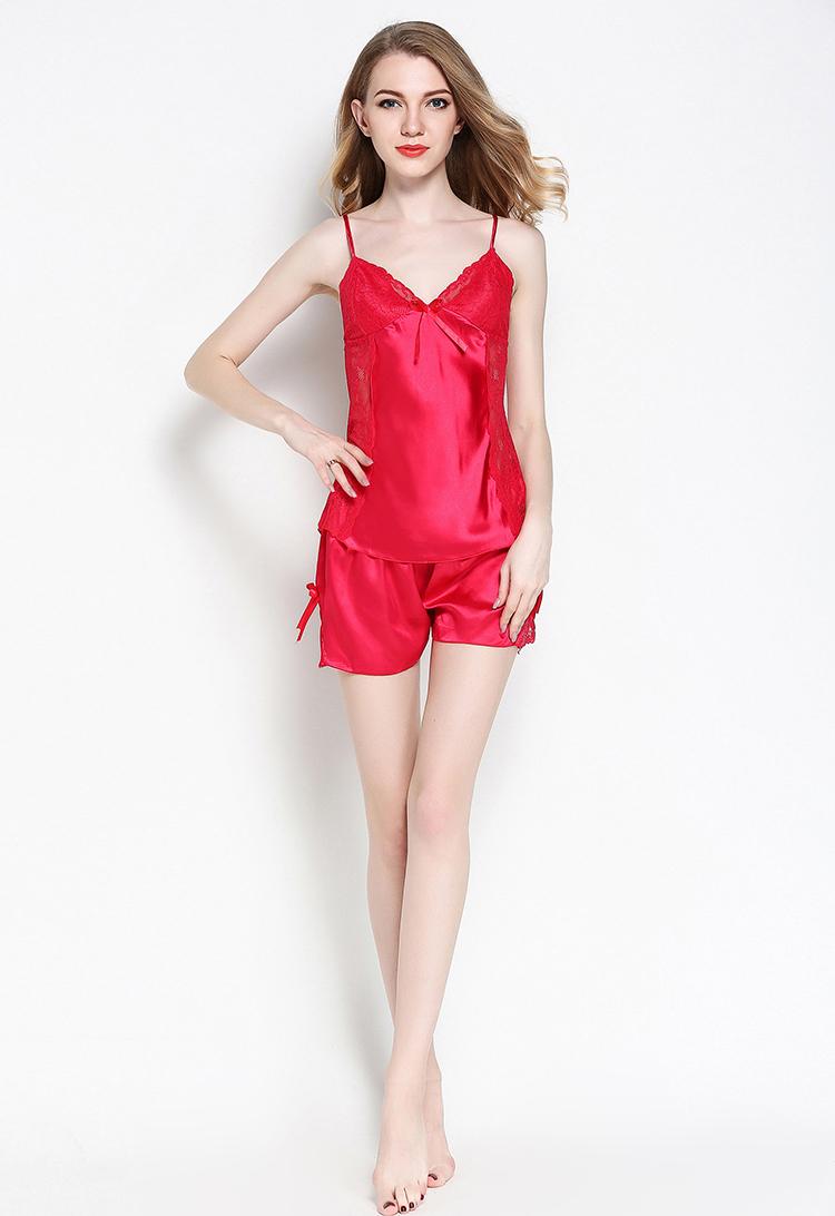 ec343dec29 SusanDick 2018 Women Silk Pajamas Set Luxury Womens Satin Pajamas Home  Clothes Long Sleeve Spring Autumn Sleepwear Family SetUSD 21.90 set