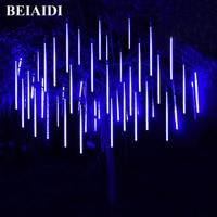 BEIAIDI 2PCS Led Wedding Meteor Shower Rain Tubes 50CM 8 Tube LED Falling Snow Christmas Tree