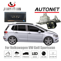 JIAYITIAN Telecamera Posteriore Per Volkswagen VW Golf 7 Sportsvan 2015 ~ 2018 di Visione Notturna del CCD telecamera Backup targa fotocamera RAC