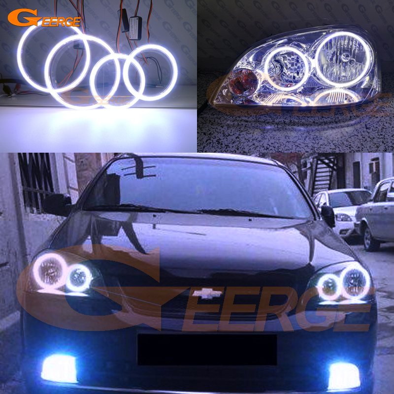 For Chevrolet Lacetti Optra Nubira 2002-2008 Excellent Ultra bright illumination COB led angel eyes kit halo rings gamma gf 641 white cool chevrolet lacetti