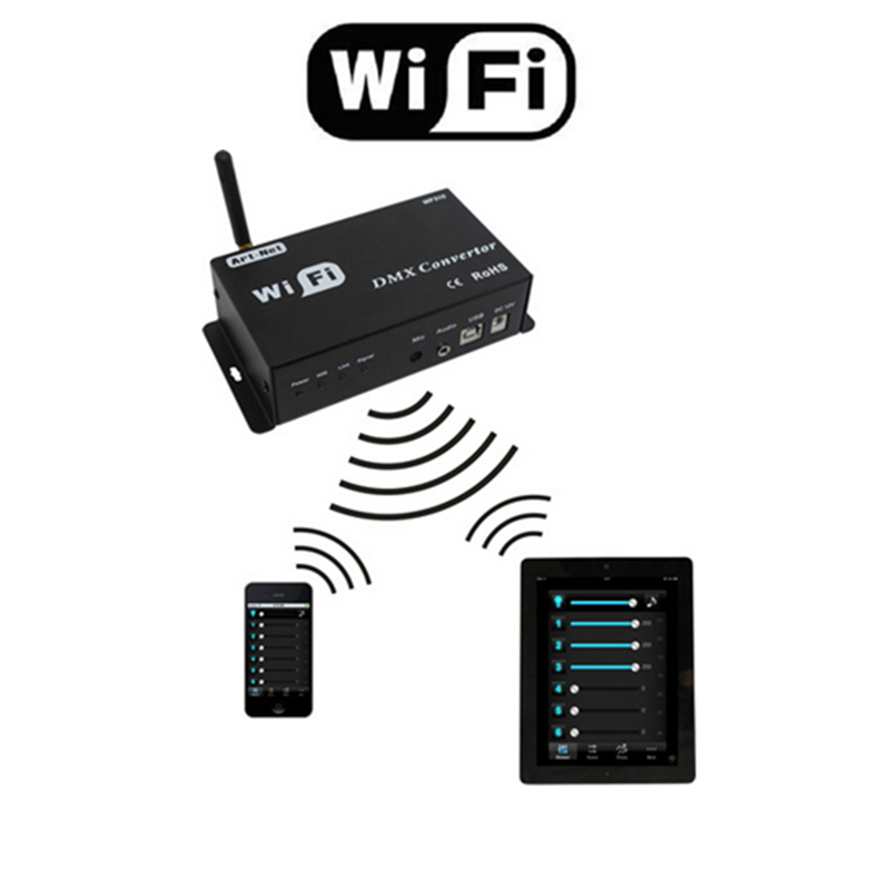 цена New WiFi DMX Controller Controlled by Android or IOS System Wifi Multi Point Controller WF310 Free Shipping