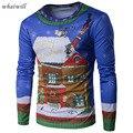 2017 Рождество стиль мужская футболка фитнес 3D напечатаны футболки повседневная tee shirt homme мода топы и тис хип-хоп camisetas