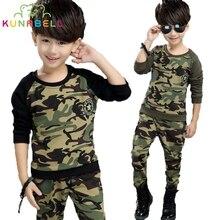 Enfants Vêtements Ensembles Pour Garçons Menino Coton Camouflage Sport Costumes Printemps Enfants Survêtements Adolescentes Garçons de Sport Vêtir H003