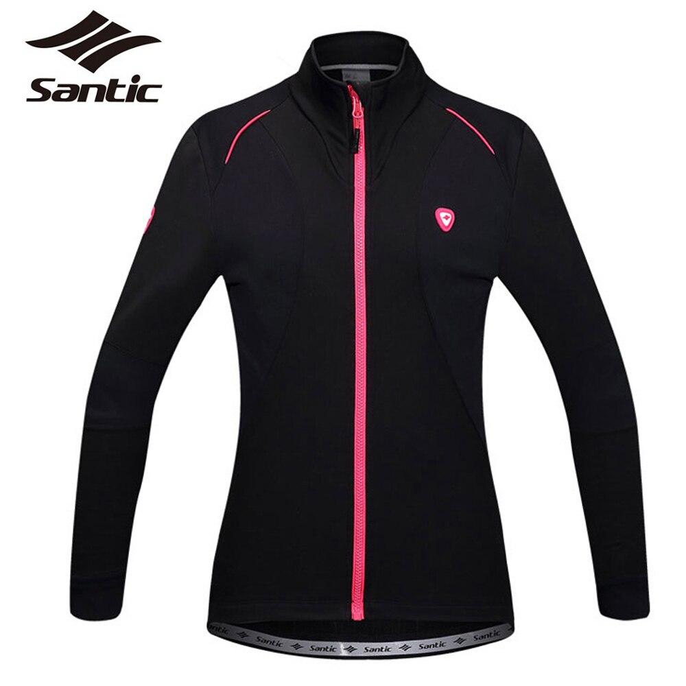 Цена за Santic 2016 новый женский велоспорт куртки с длинным рукавом зима ветрозащитный тур де франс велосипед куртка MTB дорога джерси одежда