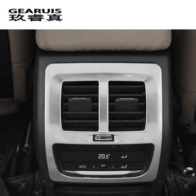 Car Styling Rear Center Console Air Outlet Air Conditioning Vent Decorative Cover Frame Stickers For <font><b>BMW</b></font> <font><b>X3</b></font> G01 Auto <font><b>Accessories</b></font> image
