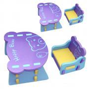 Children EVA Multi Part Dismantling Type Chair And Desk Kids Safe Lightweight Table Anticollision Comfortable Chair