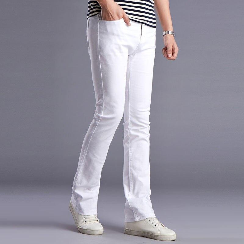 kişilərin bahar yay alovlandırılmış jeans yüksək keyfiyyətli - Kişi geyimi - Fotoqrafiya 3