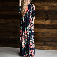 Women's Floral Printed Long Dresses