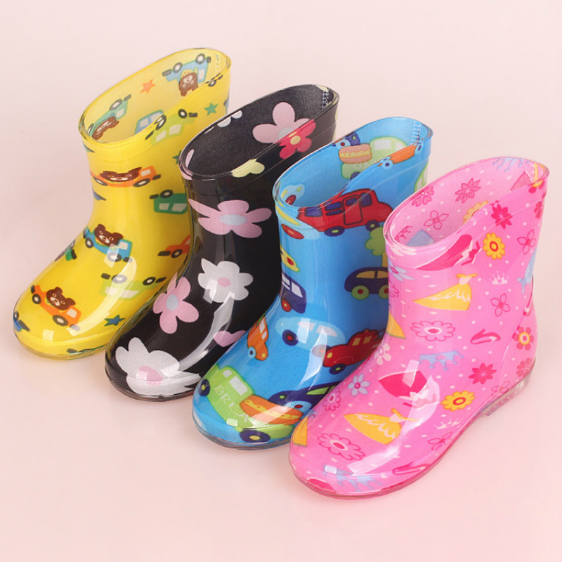 e728475f044 2019new Children s Rainboots Boys Girls High-Quality Anti-Slip Breathable  Shoes With Cute Pattern