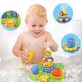 Novo Banho Do Bebê de Brinquedo para Crianças Crianças Sala de Banho Flutuante Fonte Elétrica Empilhador de Pulverização de Água Banheira Brinquedo de Banho de Natação