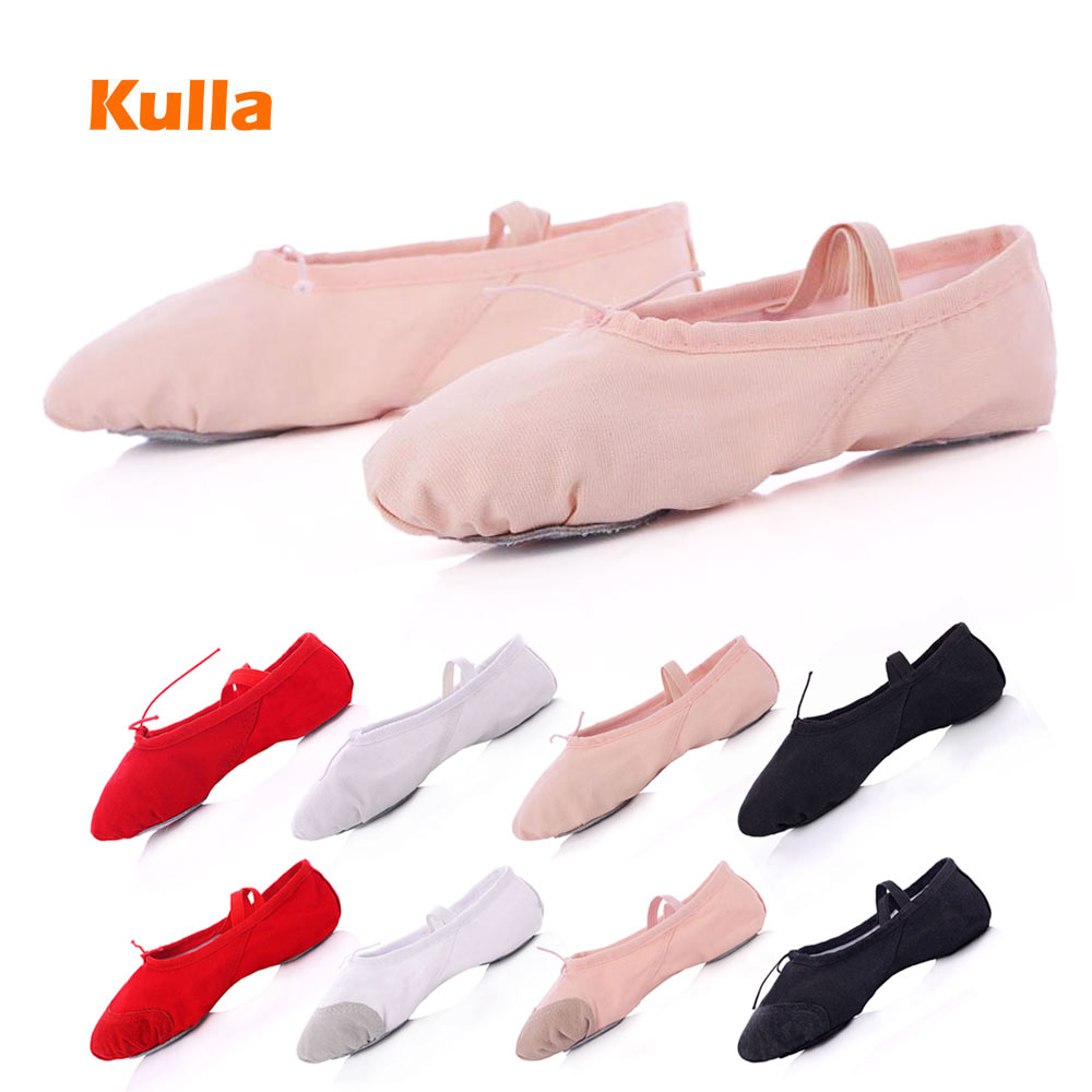 New Child Adult Ballet Dance Shoes Woman Canvas Yoga Slippers Girls Professional Jazz Shoes 24 To 45 Plus Soft Dance Shoes Girls