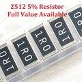 100 шт./лот SMD чип резистор 2512 91K/100K/110K/120K/130K/Ohm 5% сопротивление 91/100/110/120/130/K резисторы бесплатная доставка