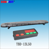 TBD 13L50 High quality super bright 1.5M Amber LED lightbar, engineering/emergency light,DC12V/24V Car Roof Flash Strobe light