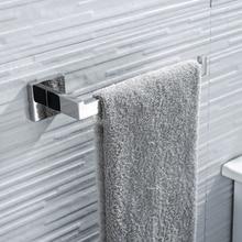 Квадратная стойка для полотенец для ванной комнаты SUS304 из нержавеющей стали, устойчивая к ржавчине, кольцо для полотенец, настенное крепление, держатель для полотенец, полированный серебристый цвет