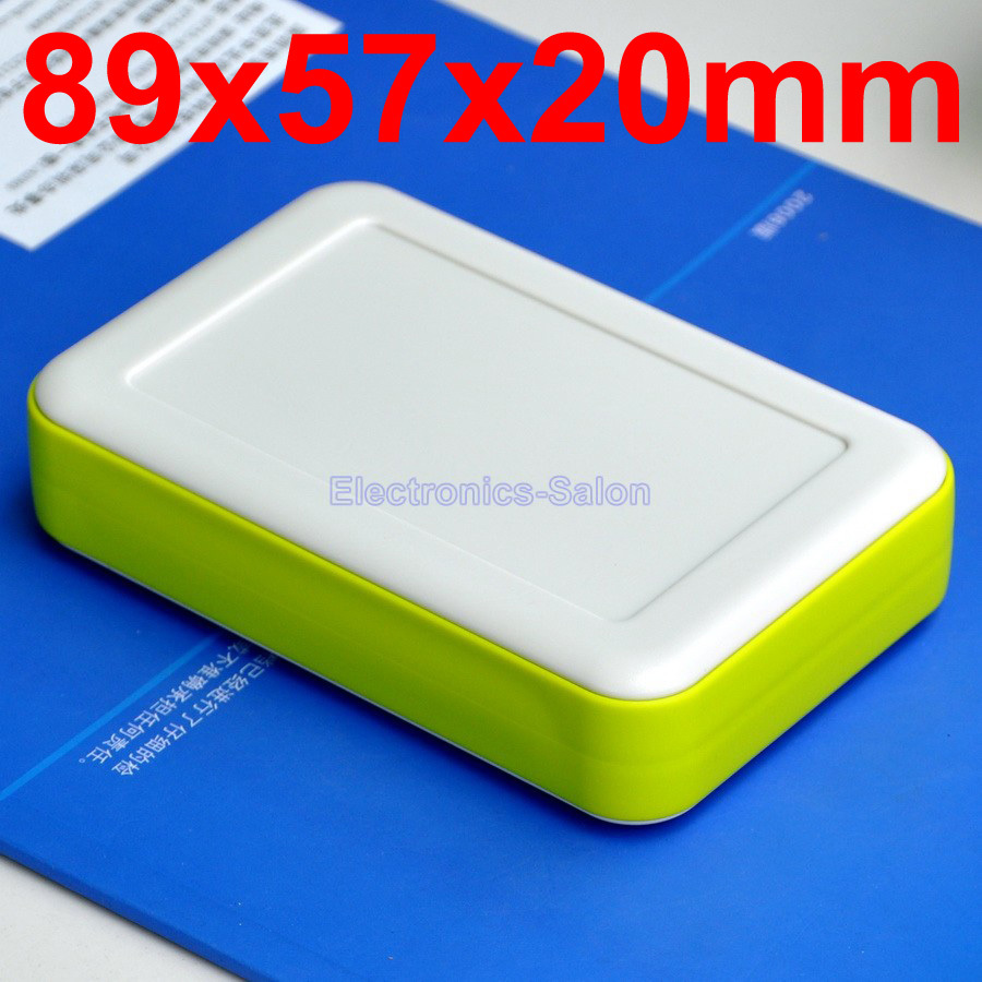 HQ Hand-Held Project Enclosure Box Case,White-Lawngreen, 89 x 57 x 20mm.