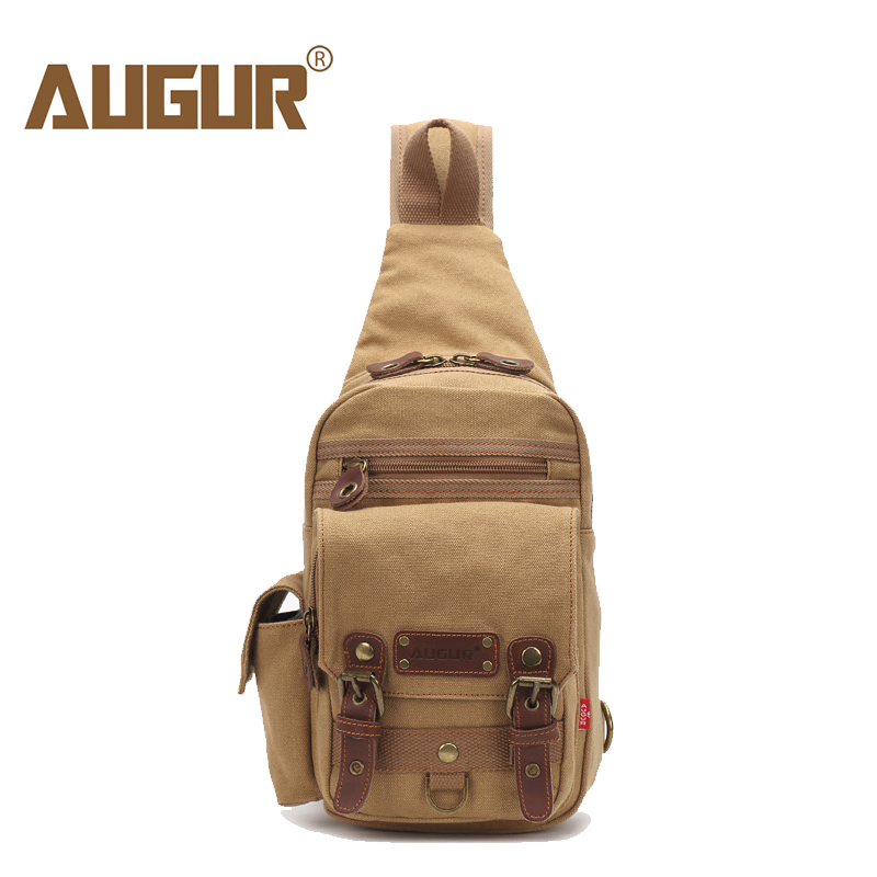 AUGUR 2018 New Casual Men's Chest Bag Canvas Sling Bag Multifunctional Small Male Travel Crossbody Bags Fashion Shoulder Bags augur new male small canvas crossbody bag multifunction tool functional bag men shoulder designer messenger travel shoulder bags