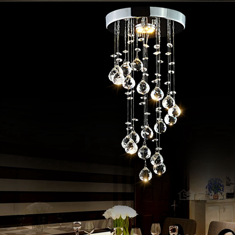 LukLoy LED K9 Crystal Ceiling Lamp Living Room Hotel Lobby Light Crystal Bedroom Aisle Corridor Porch Decorative Ceiling Light стоимость
