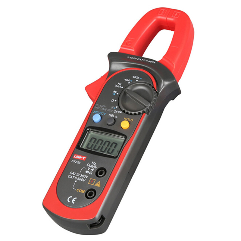 UNI-T Digital Clamp Multimeter UT203 current clamp ac dc 3999 Count 400a voltage Resistance tester LCD Auto-Range clamp meter цена