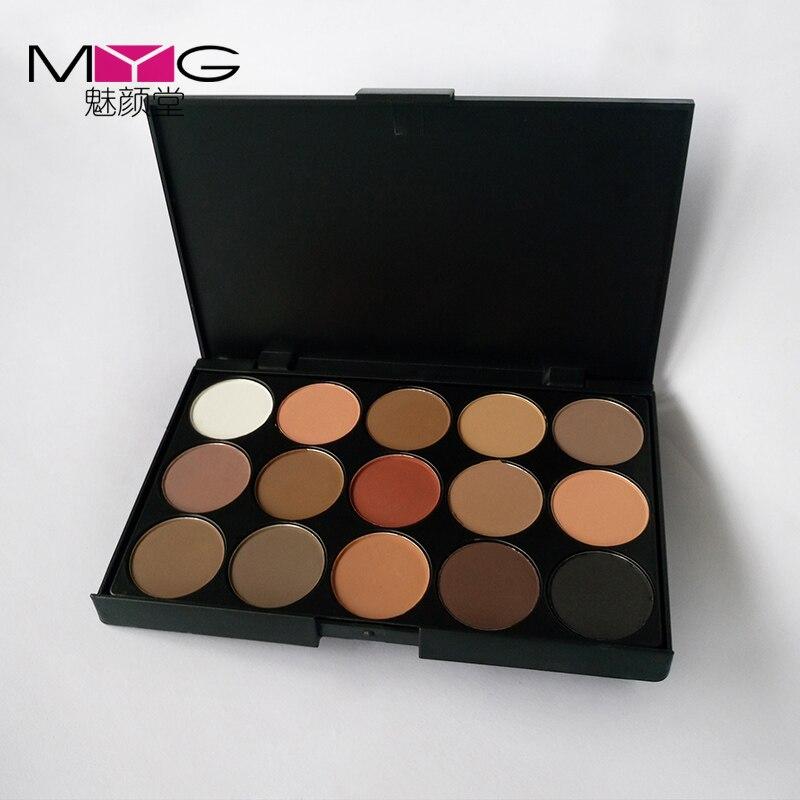 MYG 15 Couleur Nude Maquillage Ombre À Paupières Palette Nu Fumé Glitter Mat Make Up Brush Tool Set Fard À Paupières Maquillage Cosmétiques