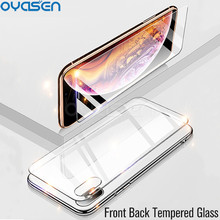 цена на Front+Back Screen Protector For iPhone XR XS Max X 0.26MM Transparent 9H Explosion-proof Tempered Glass Film For iPhone XS Max